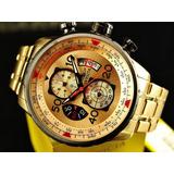 Reloj Invicta Aviator 17205, Oro 18k, Nuevo