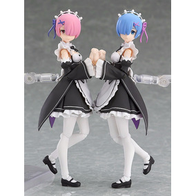 Action Figure Rem + Ram Re: Zero Articulado