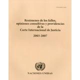 Libro : Resumenes De Los Fallos Opiniones Consultivas Y P..