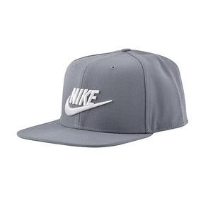 Boné Nike Futura Pro Aba Reta 891284 Cinza bco vde 43150b5128d