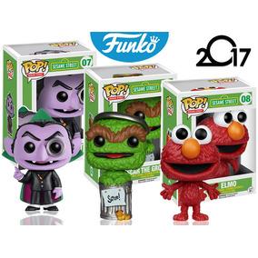 Set 3 Elmo Conde Y Oscar Funko Pop Programa Plaza Sesamo