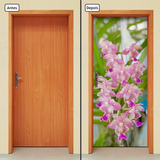 Adesivo Decorativo De Porta - Orquídea - Flores - 182mlpt
