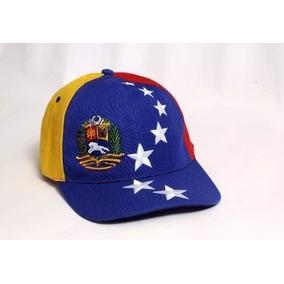 Gorra Tricolor Bandera De Venezuela 8 Estrellas Con Escudo