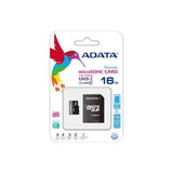Memoria Micro Sd Celular Adata 16gb 50mb/s Clase 10