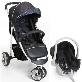 Carrinho Bebê 3 Rodas Galzerano Apollo +bebê Conforto + Base