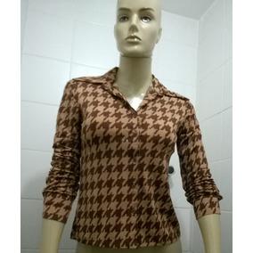 Camisa Feminina Social Estampada Usada Ótimo Estado Tam P