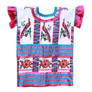 Huipil Tradicional, Textil Bordado A Mano, Aripo.