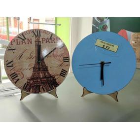 Reloj De Madera Alto Brillo Para Sublimar