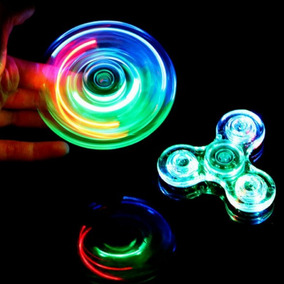 Fidget Spinner Con Luces Transparente Detal Y Mayor