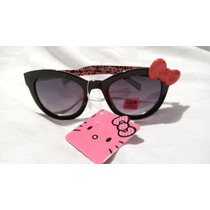 Lentes Gafas Hello Kitty Negros Con Moño! Envio Gratis