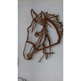 Painel Cara De Cavalo Em Ferro Rm Couros