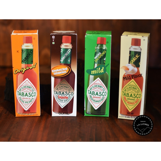 Salsa Tabasco Original/jalape?o/chipotle/garlic 60ml X4