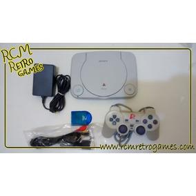 Playstation 1 Destravado Fat Ou Slim +jogo Original E Brinde