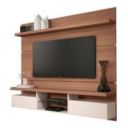 Mueble De Tv Flotante Madera Natural Y Blanco  Ref: Mural23