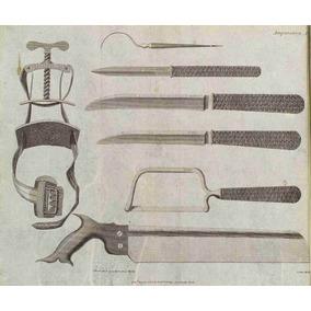 Lienzo Tela Cirugía Instrumenal Para Amputación 1806 Grabado