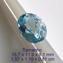 Topázio Natural Swiss Blue Pedra Preciosa 3435
