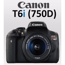 Nova Câmera Canon T6i 750d +18-55 Is Stm C/ 1 Ano Garantia