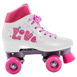 Patins Quad Love 4 Rodas Branco - Bel Sports