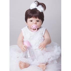 Bebê Reborn Barato Boneca Menina Silicone Fretegrátis