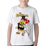 Camiseta Blusa Infantil The Flinstones Casamento Fred Vilma