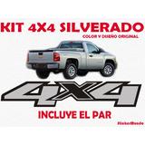 Kit Calcomania 4x4 Chevrolet Silverado Diseño 100% Original