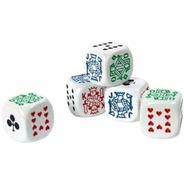 Set De 5 Dados Poker Blancos  Juego De Mesa Importado Cacho