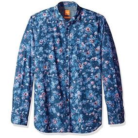 e34ddb274fd1c Camisa De Seda Hugo Boss - Ropa y Accesorios Azul en Mercado Libre ...