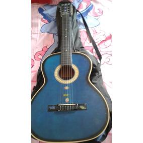 Guitarra Acústica Azul Tipo Española Bucaramanga