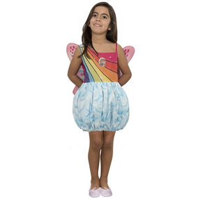 Disfraz De Barbie Mariposa Con Luz Talle 2