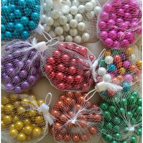 Bolitas Canicas De Vidrio Color Nacarado Por 40 Unidades