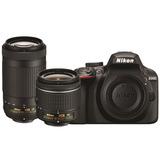 Cámara Nikon D3400 Kit Dos Lentes 70-300 Vr , 18-55mm Vr