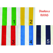Tela Lona Plastica Raya 3,5cm De Ancho Pantasote Almohadones