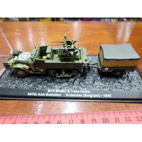 Ixo Blindados 1/72 M16 M G M C & 1 Ton Trailer Usa 1945