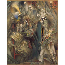 Lienzo Tela Bailarín Cafe Pintor Jean Metzinger 1912 63 X 50
