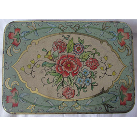 Lata Antiga Decorativa The Tin Box Company - A62