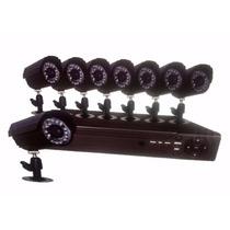 Kit 8 Camaras Seguridad Internet 3g Celular Vision Nocturna