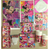 Kit Decoracion Piñata Fiesta Infantil Minnie Mouse
