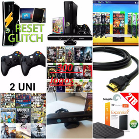 Xbox 360 +kinect + Controle Sem Fio + Hd Ext 2 Tb +400 Jogos