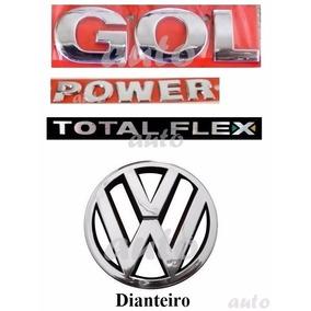 Emblemas Gol Power Total Flex + Vw Grade - G4 Geração 4