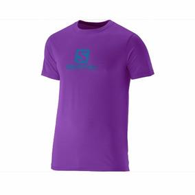 Remera Salomon Logo Violeta Ultimas:l-xl-xxl
