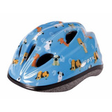 Capacete Infantil Regulagem Bike Ciclismo Dog Azul