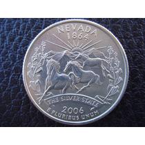 U. S. A. - Nevada, Moneda De 25 Centavos (cuarto), Año 2006
