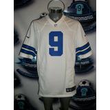 Jersey Oficial Nike Nfl Vaqueros Dallas Cowboys Romo-9 Blanc