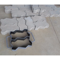 Forma Manual Bloquetes ,paver ,pisos De 16 Faces Com 2 Pçs