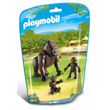 Playmobil Zoo Gorila Con Cria Nene Nena 6639 Educando