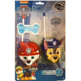 Paw Patrol Walkie Talkie Originales Chase Marshall Educando