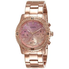 Reloj Mujer Guess Confetti Acero Oro Rosa