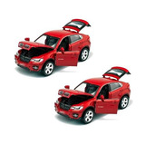 Pack 2 Auto A Escala 1:32 Bmw Rojo / Rebajas