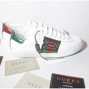 Zapatillas Gucci Ace Kiss Cuero Importadas