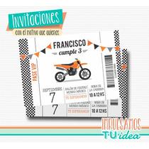 Cumple Moto Cross - Invitación Moto Cross Para Imprimir